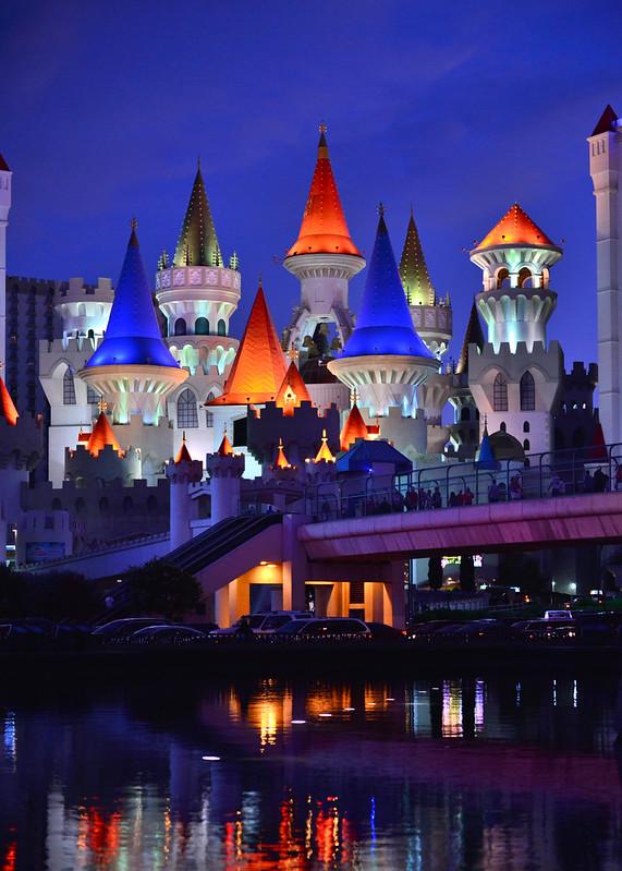 Hora mágica u hora azul en Las Vegas