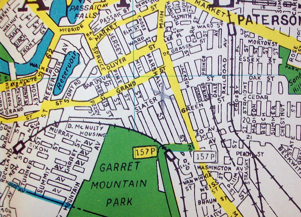 Paterson Nj August 1950 Map By Hagstrom Maps Flickr