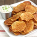 Homemade Baked Smoked Paprika Potato Chips with Triple Onion Dip