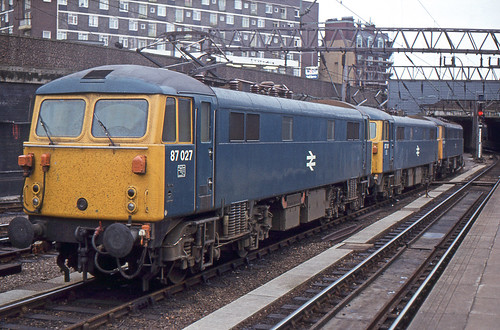 87 027 and 87 101 stabled at Euston between duties | by Always Santa Fe