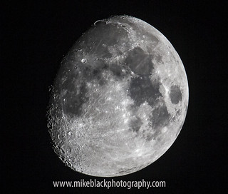 Moon Canon 1-D X 800mm f/5.6 | by Mike Black photography