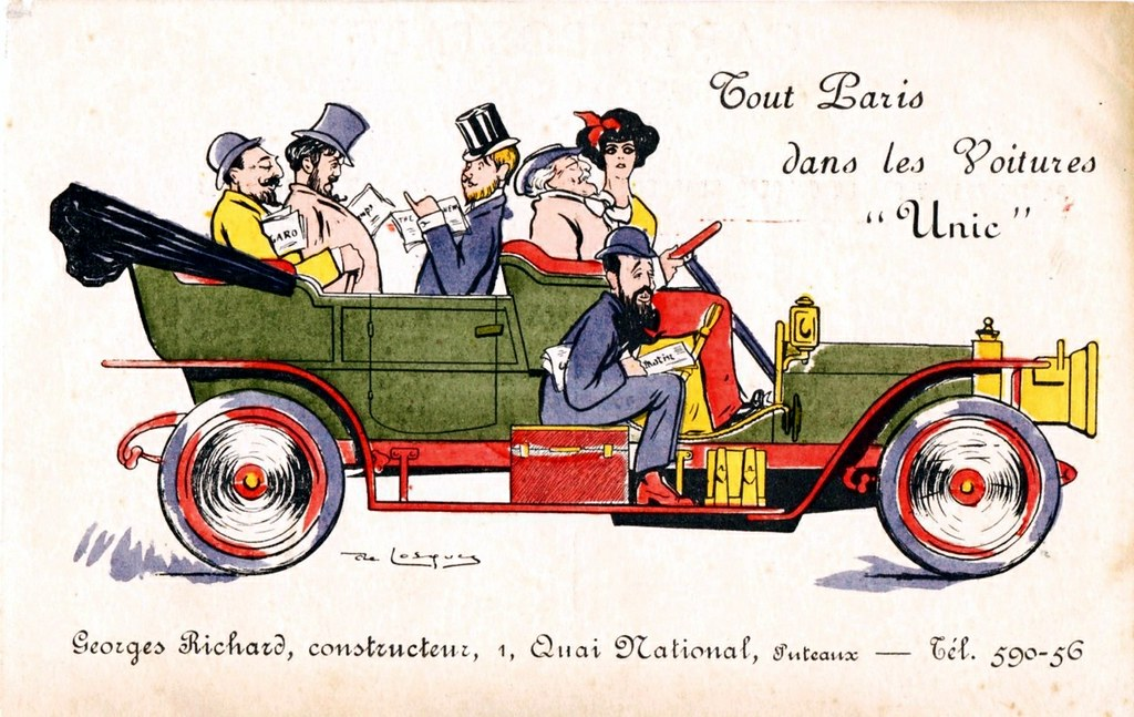 1911 Unic Touring Car | Unic cars were made by Georges Richa… | Flickr