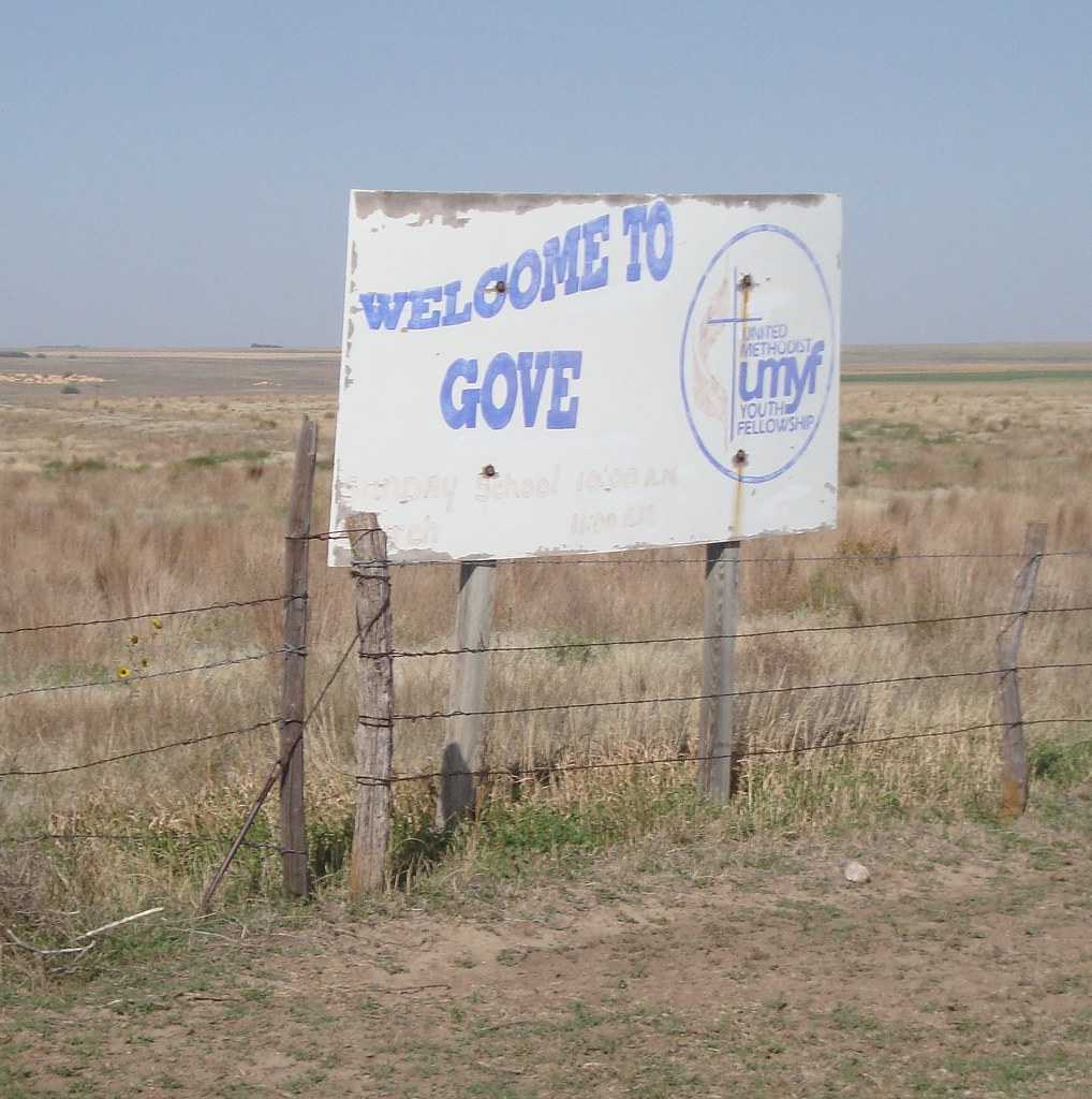 Kansas gove county grinnell -  Welcome To Gove Sign Gove Kansas By Courthouselover