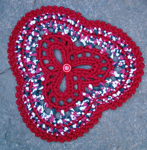 Toalhinha em trapilhos ou fio de malha napperon crochet - Napperon crochet chemin de table ...