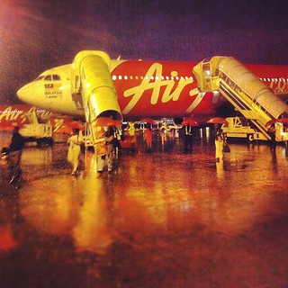 Plane landed in Malaysia around 5:30am. It was raining heavily. What a welcome. | by edmundyeo