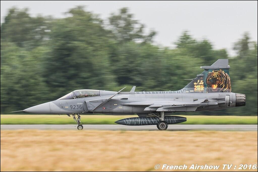 JAS-39 Gripen tiger ,Belgian Air Force Days 2016 , BAF DAYS 2016 , Belgian Defence , Florennes Air Base , Canon lens , airshow 2016