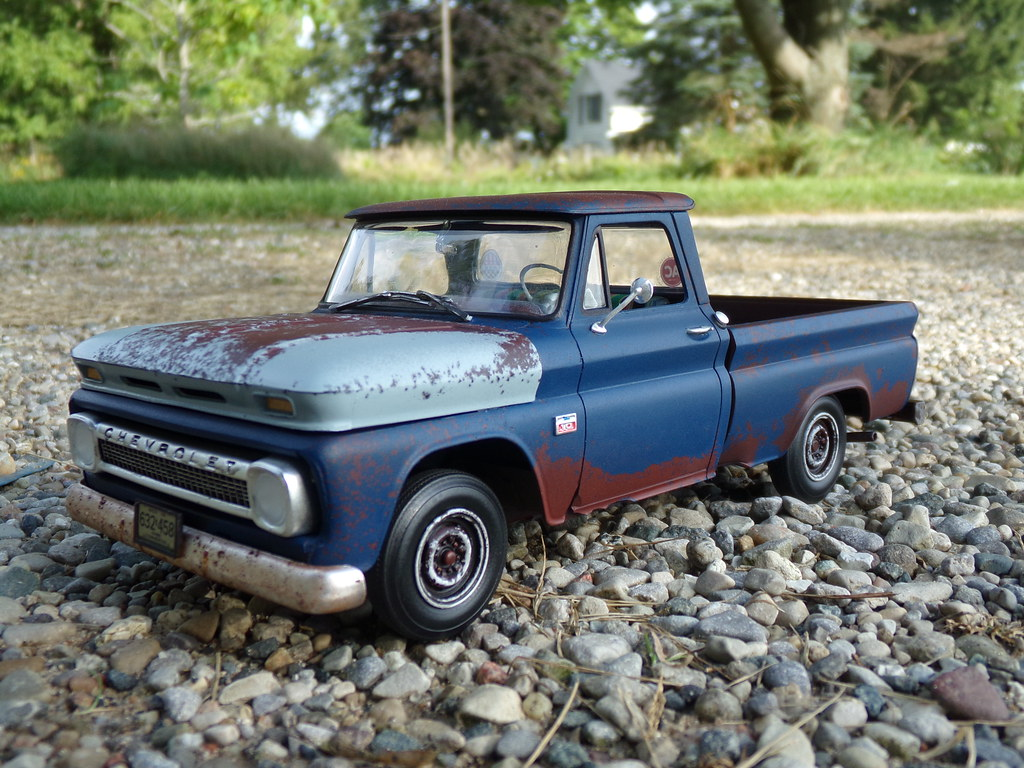 1966 Chevrolet C10 Revell Kit Done Up As A Crusty Old Beat Truck By Madhouse Miniatures