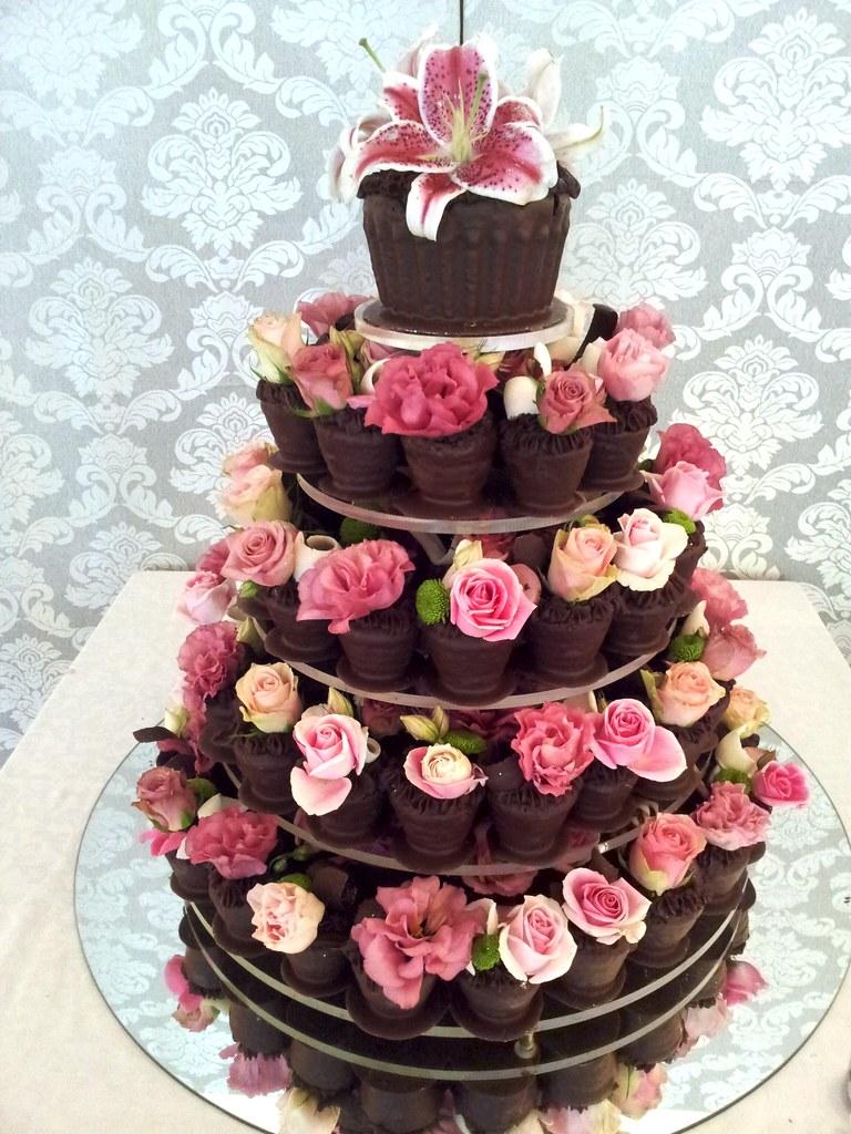 Real Flowers On Homemade Wedding Cake