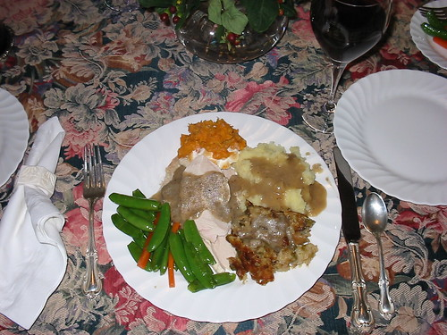 Thanksgiving dinner, all the trimmings, November 2004 | by wbaiv