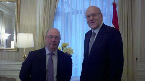 UK Minister Alistair Burt meets with Mr Najib Mikati, Prime Minister of Lebanon, during Ministerial Week at the UN General Assembly | by UK UN, New York