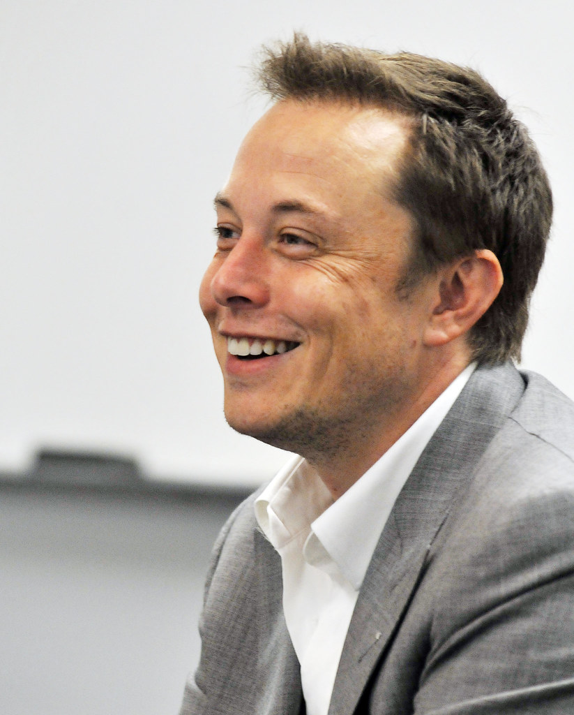 SpaceX   Founder of SpaceX, Elon Musk talks with the ...