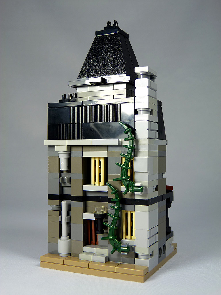 Lego mini modulars moc haunted house inspired by for Mini palazzi
