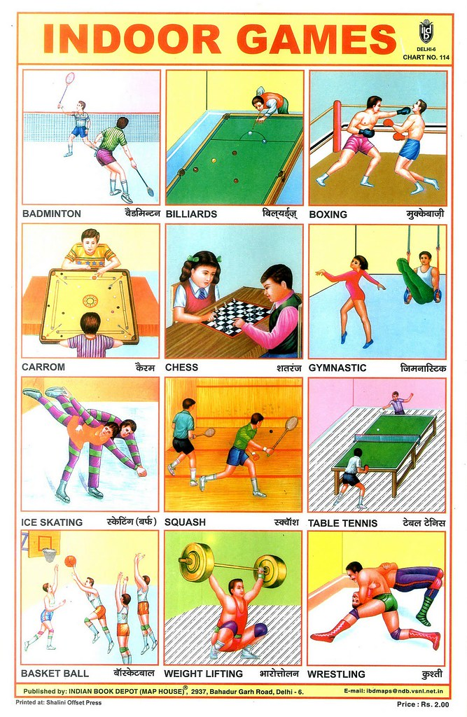 Hundreds Chart Games: Indoor Games | One of a Collection of Indian School Posters.u2026 | Flickr,Chart
