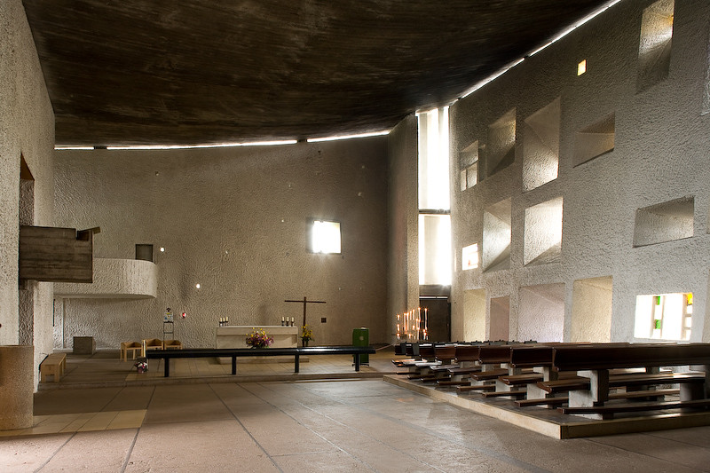 le corbusier notre dame du haut ronchamp france 1950 5. Black Bedroom Furniture Sets. Home Design Ideas