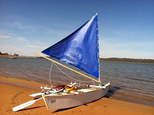 2012 Sail Oklahoma Messabout - my Wa'apa outrigger canoe