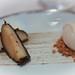 Caroline rice ice cream with charred apple