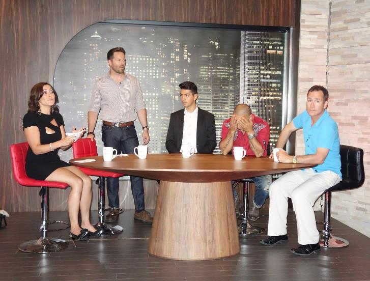 the Single in the City TV studio