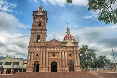 Beautiful church of Timana - a small town in the Huila department of Colombia