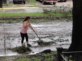Mom Raking After Isaac | by Editor B