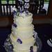 Robot Cake Topper standing upon cake!