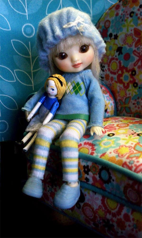 amelia thimble doll  lark and alice