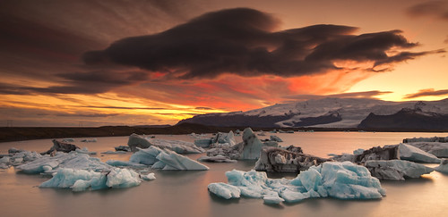 Iceland - Magical Sunset at Jokulsarlon | by © Saleh AlRashaid / www.Salehphotography.net