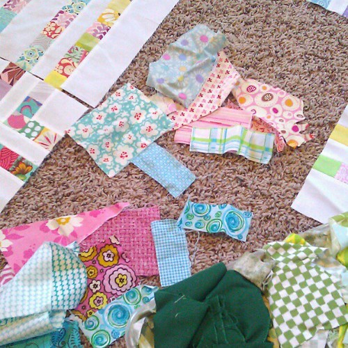 Searching my scraps to finish up my candy land quilt. I'm so so late on this... 4 more blocks. 4 more blocks. | by Diane {from blank pages...}