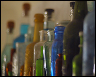 bottles | by kathryn""