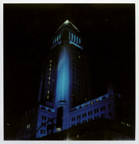 Blue Los Angeles City Hall | by tobysx70