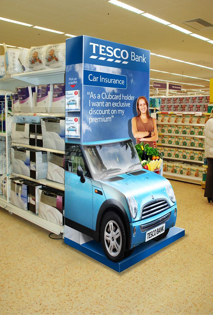 Tesco Bank Car Insurance 3d Product Gondola End Displa Flickr