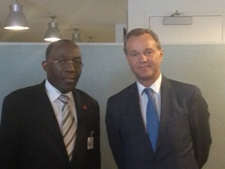 UK Minister Mark Simmonds meeting with the DRC Foreign Minister Raymond Tshibanda at the UN General Assembly | by UKUnitedNations