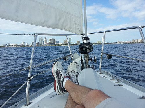 Relaxing while sailing tampa bay | by Fifth World Art