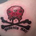 Close-up of Izic the Weird's To Pirates tat