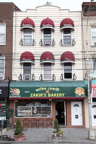 Zakir's Bakery, with surviving signage from the former Vaccaro's Bakery, Astoria, Queens | by Eating In Translation