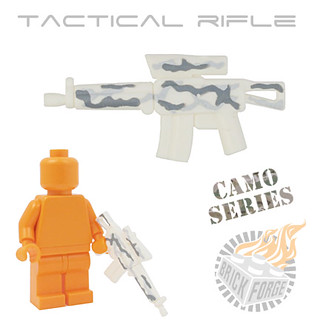 Tactical Rifle - White w/ Camo | by BrickForge