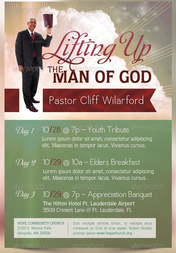 Pastor Appreciation Church Flyer Template The Pastor Appre Flickr