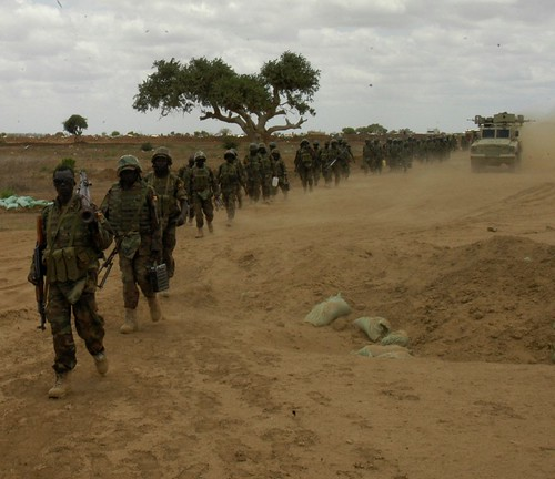 Ground troops from the US-backed AMISOM forces enter the town of Wanlaweyn in Somalia. The country has 17,000 troops occupying the Horn of Africa state on behalf of the Pentagon and NATO. | by Pan-African News Wire File Photos