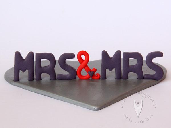 Schriftzug Fur Die Moderne Hochzeitstorte Mrs Mrs Flickr