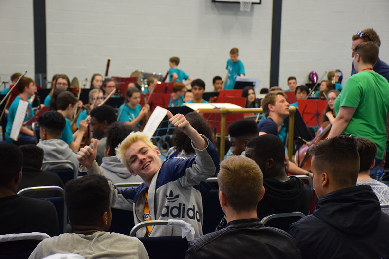National Youth Orchestra visit The Way Youth Zone