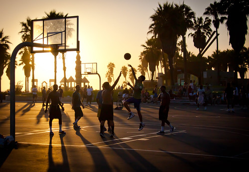 Sunset at Venice Beach Basketball Courts - Los Angeles CA 2 | by ChrisGoldNY