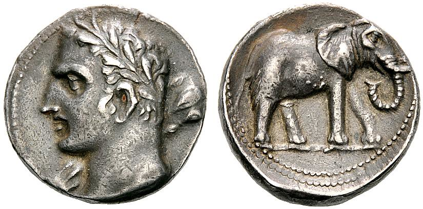 G1235 A Rare And Exceptional Carthaginian Silver 1 1 2 She Flickr