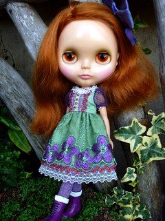 Hadley doing justice to her new dress!! | by Blythesighted