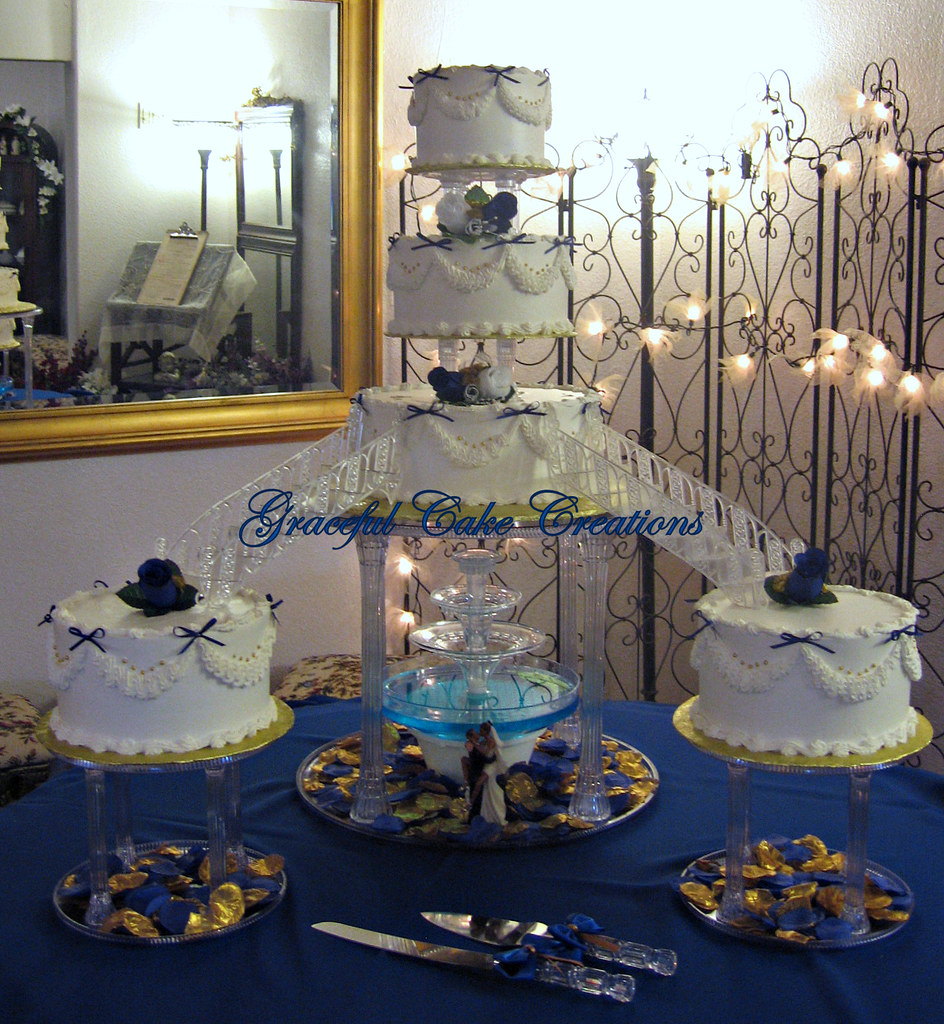 Tier Floating Wedding Cake Stands