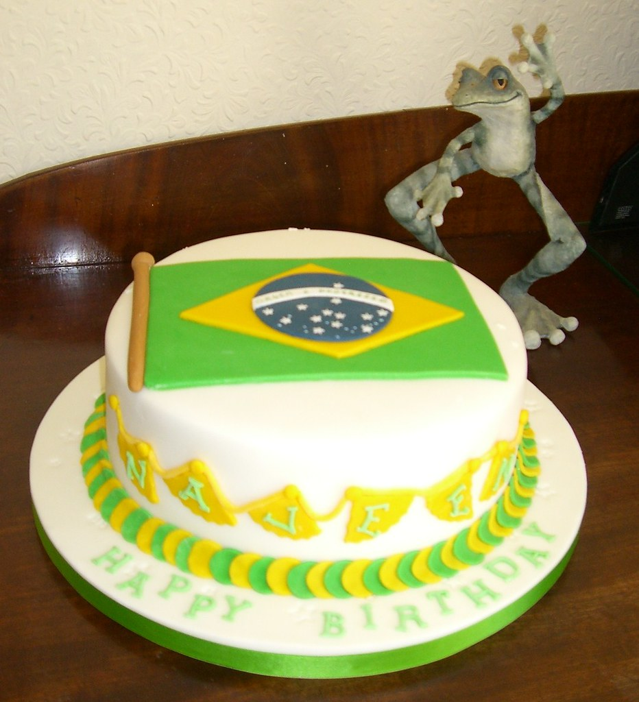 Brazil Flag Travelling Cake This Was Ordered By A