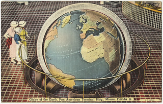Globe of the earth, Pan American terminal building, Miami, Florida | by Boston Public Library