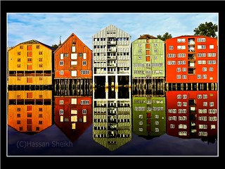 Beautiful coloured houses/buildings on Nidelva river in Trondheim, Norway. | by hassan_sheikh344