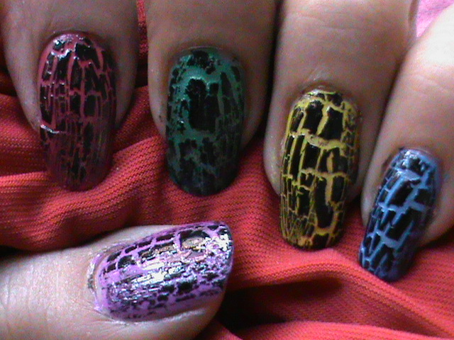 Crackle Nail Art Designs Gallery Youtube Nail Art Channel Flickr