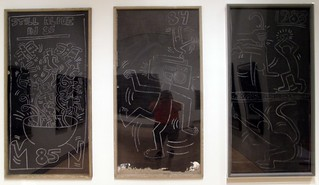 Keith Haring: 3 Chalk Drawings | Keith Haring Chalk on ...