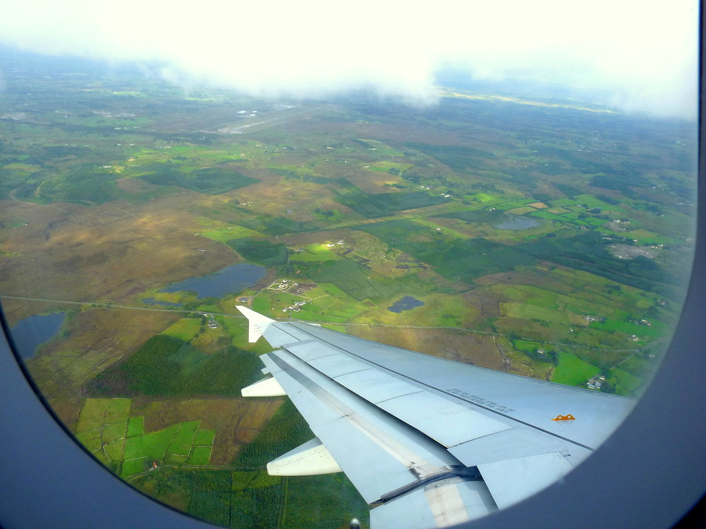 Ireland Aerial View View Over Co Mayo From A Just