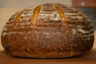 Vermont Sourdough with Increased Wholegrain—Underproofed Boule, Crust | by Tuirgin